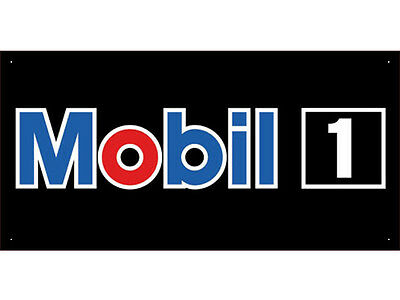 Advertising Display Banner for Mobil Sales Service Oils