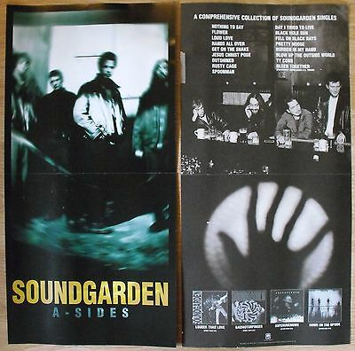 """Soundgarden A-sides Promo Double-sided Flats Lot 12"""" x 24"""" Chris Cornell"""