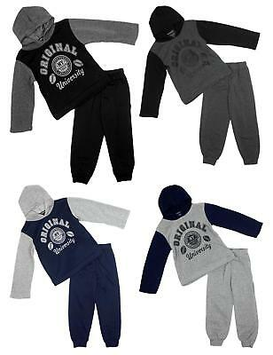 Boys Tracksuit Jogging Original University Hoody Top Outfit Hooded 1 to 6 Years