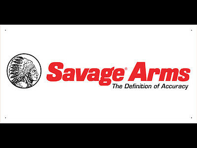 Advertising Display Banner for Savage Dealer Arm Gun Shop