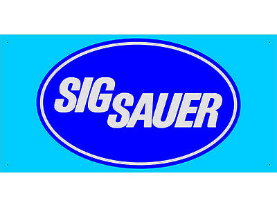 Advertising Display Banner for SIG Sauer Dealer Arm Gun Shop