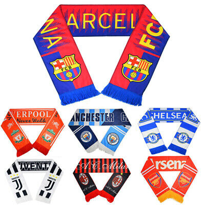 Barcelona Football Club Soccer Scarf Neckerchief Fan Souvenir Real Madrid Gift