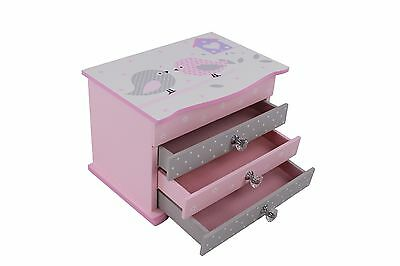 Kids Toddler Gift Jewelry Box Storage Organizer with Drawer for Earring Necklace