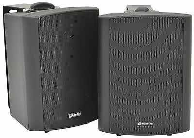 QTX BC5A Black Amplified Stereo Set of Speakers PA Background Monitor DJ *BSTOCK