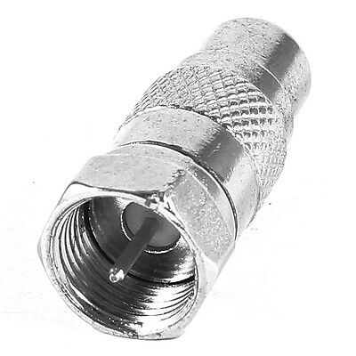 W6 F Type Male to RCA Female Plug Straight RF Connector Coaxial Adapter