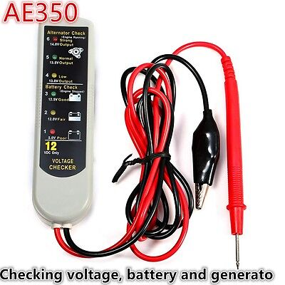 AE350 Vehicle Car Battery Generator Voltage Checker Diagnostic Tool Universal