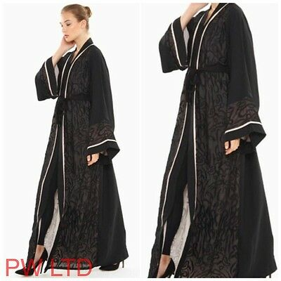 BROCADE VINTAGE Dubai Style Abaya Maxi Dress Farasha Jalabiya Modest Wear