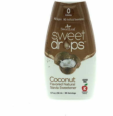 Sweet Drops Liquid Stevia, SweetLeaf, 1.7 oz Coconut 1 pack