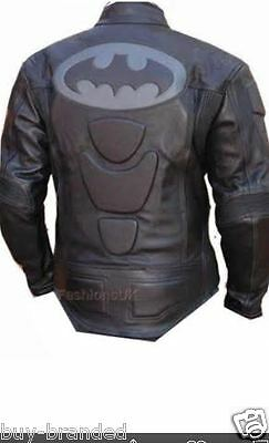 BatMen Motorbike Leather Jacket Motorcycle Biker Racing Protection CE XS-4XL