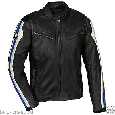 MENS BMW Motorbike Leather Jacket Racing Biker Cowhide Leather Jacket ALL-SIZE