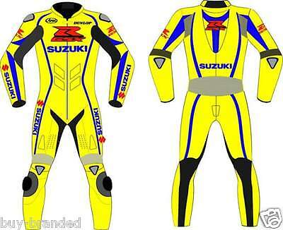 SUZUKI GSXR MOTOGP Motorcycle Leather Suit Racing Motorbike Leather Suit XS-4XL