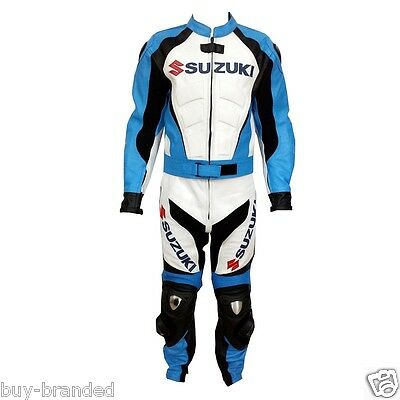 SUZUKI GSXR Motorcycle Leather Suit Biker Leather Suit Jacket Trouser ALL-SIZE
