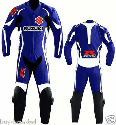 SUZUKI GSXR MOTOGP Motorcycle Leather Suit Racing Cowhide Motorbike Leather Suit