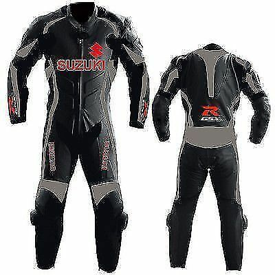 GSXR Motorcycle Leather Motorbike Suit Biker Cowhide Leather Racing one piece