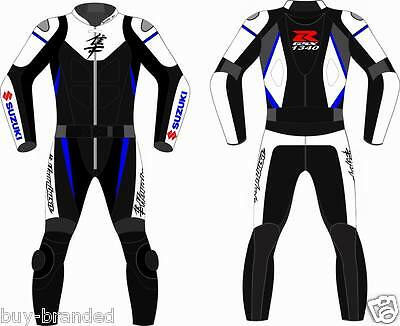 Suzuki GSXR Motorcycle Leather Suit Racing Cowhide Motorbike Leather Suit XS-4XL
