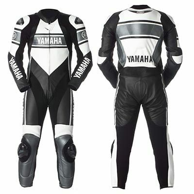 YAMAHA Motorcycle MOTOGP Leather Suit Racing Cowhide Leather Suit 1/2 PIECE