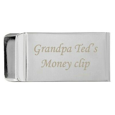 Personalised Engraved Money Clip - Gift Ideas for Birthdays, Christmas, For Him