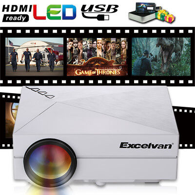 Mini Proyector Video Cine Teatro PC LED Projector HD AV TV VGA USB SD 1024x768