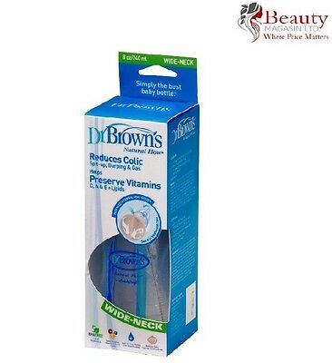 Dr Brown's Single 240ml Wide Neck Baby Feeding Bottle