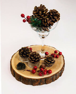 Christmas Rustic Wooden Flat Slice Rustic Wedding Decor Centrepiece Vintage