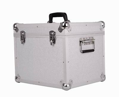 "LP100 100 X 12"" Vinyl Record Box Storage Flight Case SILVER"