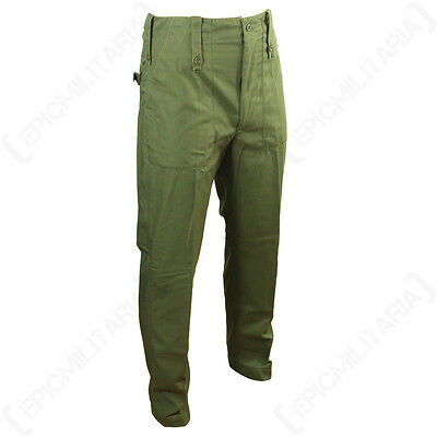 ORIGINAL BRITISH OLIVE TROUSERS - Genuine Army Military Surplus Green Pants Mens