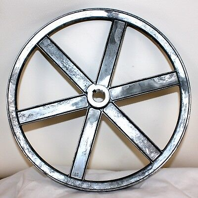 "12"" Die Cast 6 Spoke Pulley 1/2"" V-Belt 1/2"" Center Hole Chicago Die Casting SST"