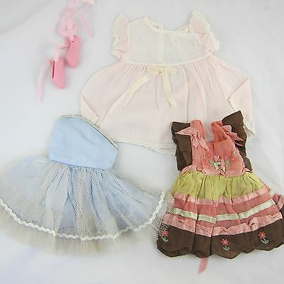 Vintage Doll Clothes to fit Terri Lee Ballet Tutu, Handmade & Pink Dresses