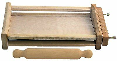 Chitarra Pasta cutter with rolling pin Cod. E2009/CM Natural beechwood rolling