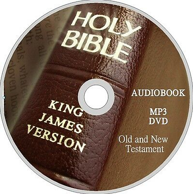 COMPLETE Unabridged KJV HOLY BIBLE AUDIO BOOK ON MP3 DVD & FULL TEXT PDF NEW