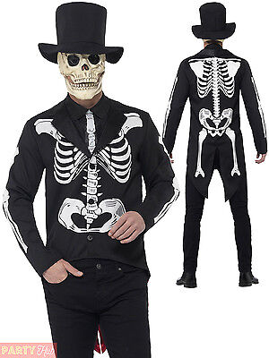 Mens Day of the Dead Senor Costume Adults Skeleton Halloween Fancy Dress Outfit