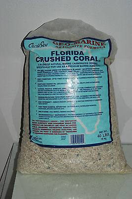 Aquarium Florida Crushed Corail 18,1kg Bag Céréales Environ 2-5mm Marine