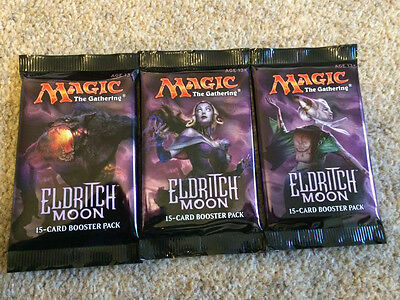 Magic the Gathering - 3 x Eldritch Moon Booster Packs - MTG - New/Sealed