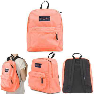 100% Authentic Jansport Superbreak Backpack Coral Peaches