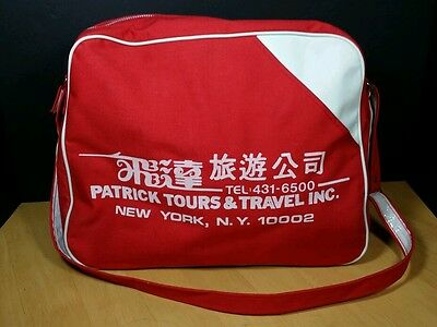 Vintage NYC Travel Tours Vacation bag messenger hipster Asian souvenir carry-on