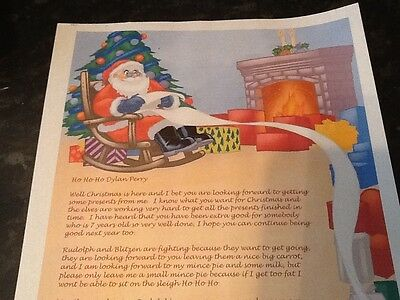 Personalised letter from Santa Claus with north pole postmark. Father Christmas
