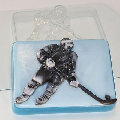 """""""Hockey player"""" plastic soap mold soap making mold mould sport"""