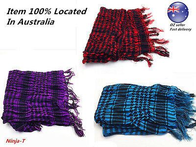 Tactical Scarf Military KeffIyeh Shemagh 110cm Red Blue Purple