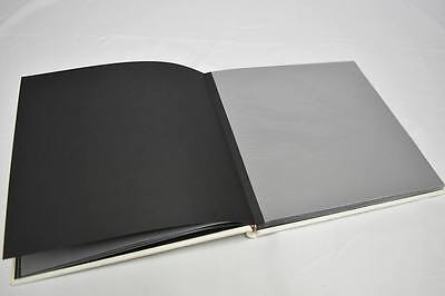 set of 8 White Leather Dry Mount Photo Album for Weddings Photo Booth, business