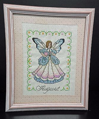 """Cross Stitch """"August Angel"""" (Completed)"""