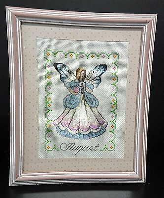 "Wall Hanging-Cross Stitch ""August Angel"" (Completed)"