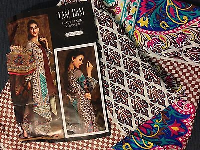 lawn Salwar kameez unstitched more than enough material for a XL size.