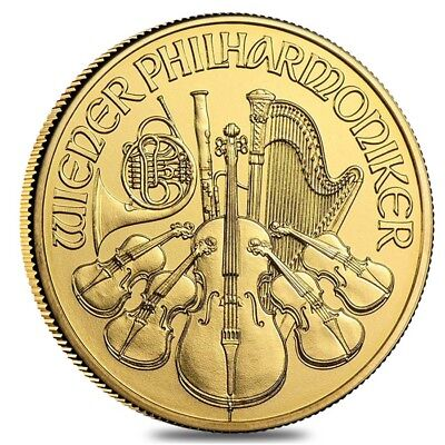 1/10 oz Austrian Gold Philharmonic Coin (Random Year)