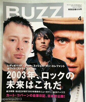 BUZZ Japan Music Magazine 4/2003 Vol.41 Radiohead Blur Linkin Park Placebo