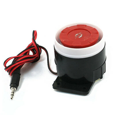 Continuous Sound Decibel Piezo Buzzer IC Alarm Speaker DC 12V 120db Black+Red LW