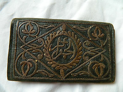 Antique Embroidered Arab Wallet Coin Purse North Africa Algeria Morrocco Islam