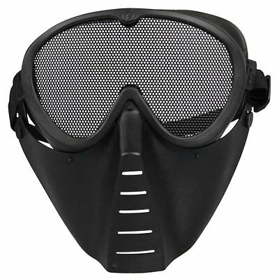 Mask Airsoft protective mask Paintball Black New LW