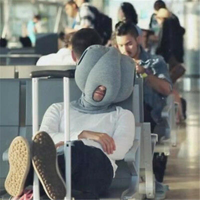 Ostrich Sleeping Sleep Nap Napping Travel Head Neck Rest Pillow Cushion Hat BO