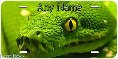 Green Tree Python Snake Any Name Car Novelty License Plate P02