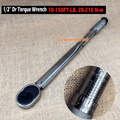 """Dual Drive 1/2"""" and 3/8"""" Micrometer Torque Ratchet Wrench Supplied in Case"""